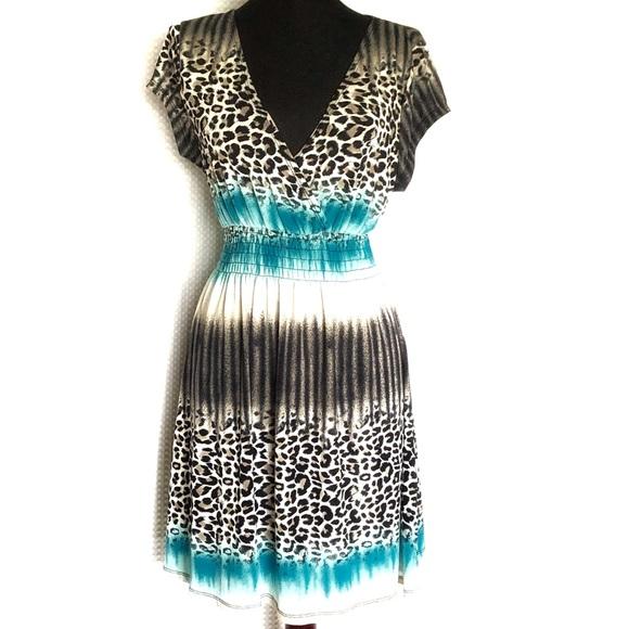 Cristinalove Dresses & Skirts - Cristinalove Dress Black and White Cheetah Size XL